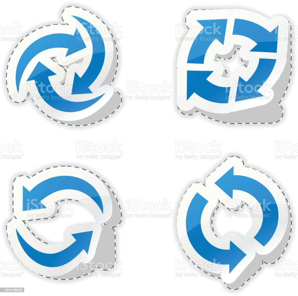 Arrow blue stickers. royalty-free stock vector art