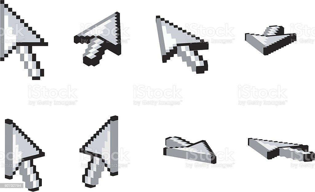 3D Arrow Cursor n.2 royalty-free stock vector art