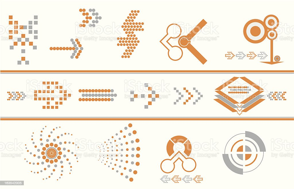 arrow design elements royalty-free stock vector art