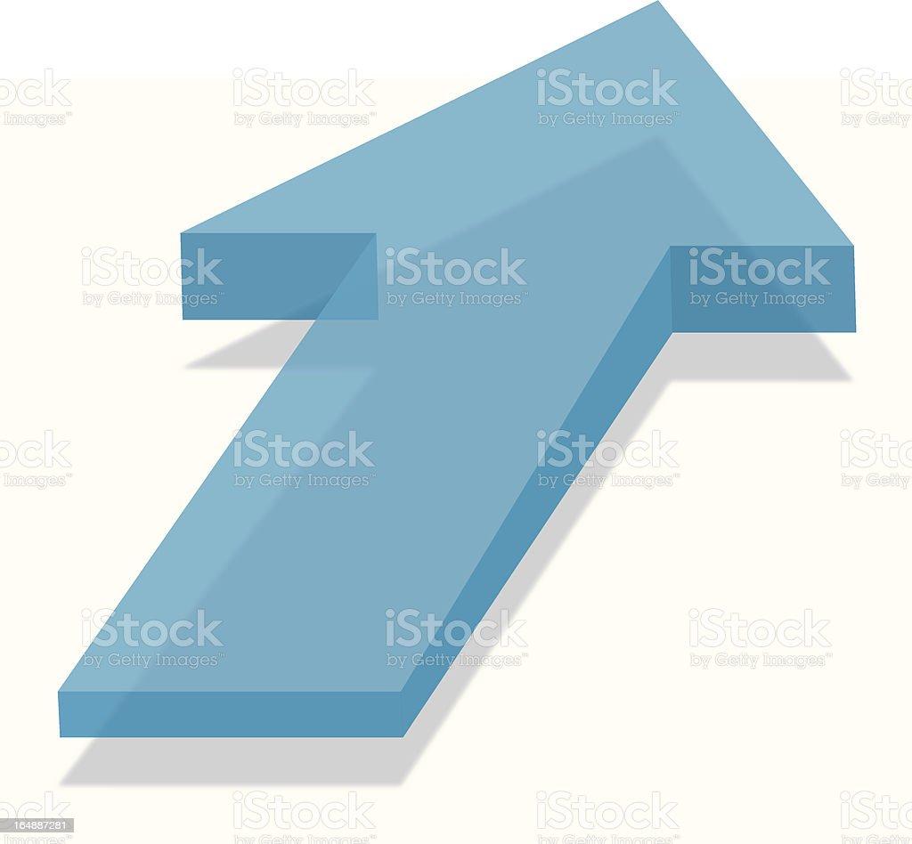3D Arrow royalty-free stock vector art