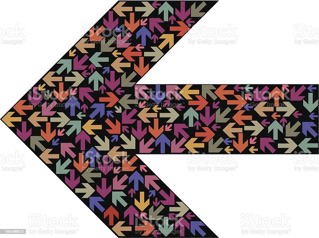 Arrow two royalty-free stock vector art