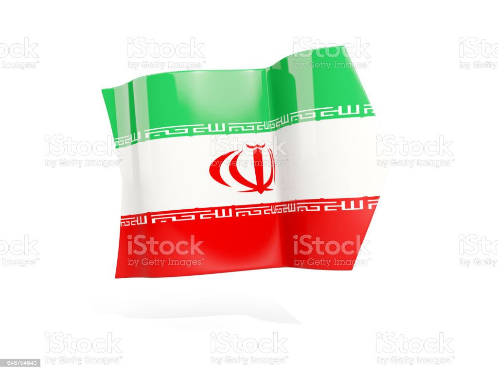 Arrow with flag of iran vector art illustration
