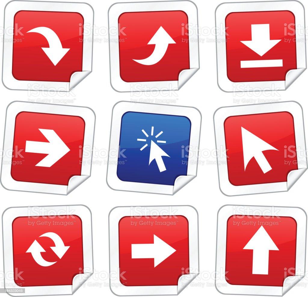 Arrows stickers royalty-free stock vector art