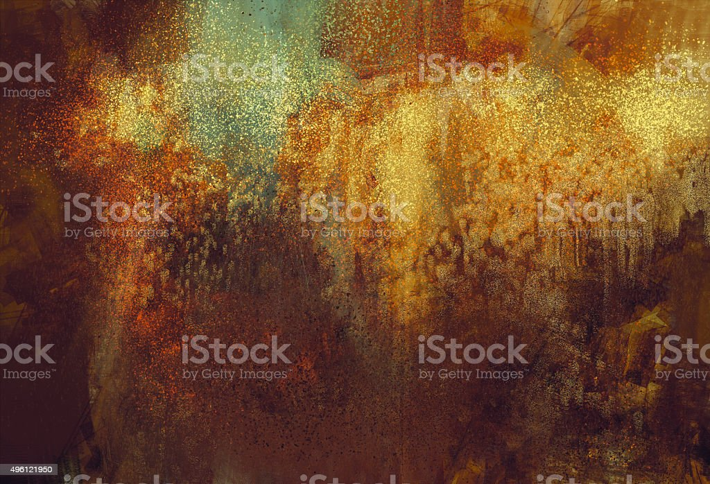 art abstract grunge background with rusted metal color vector art illustration