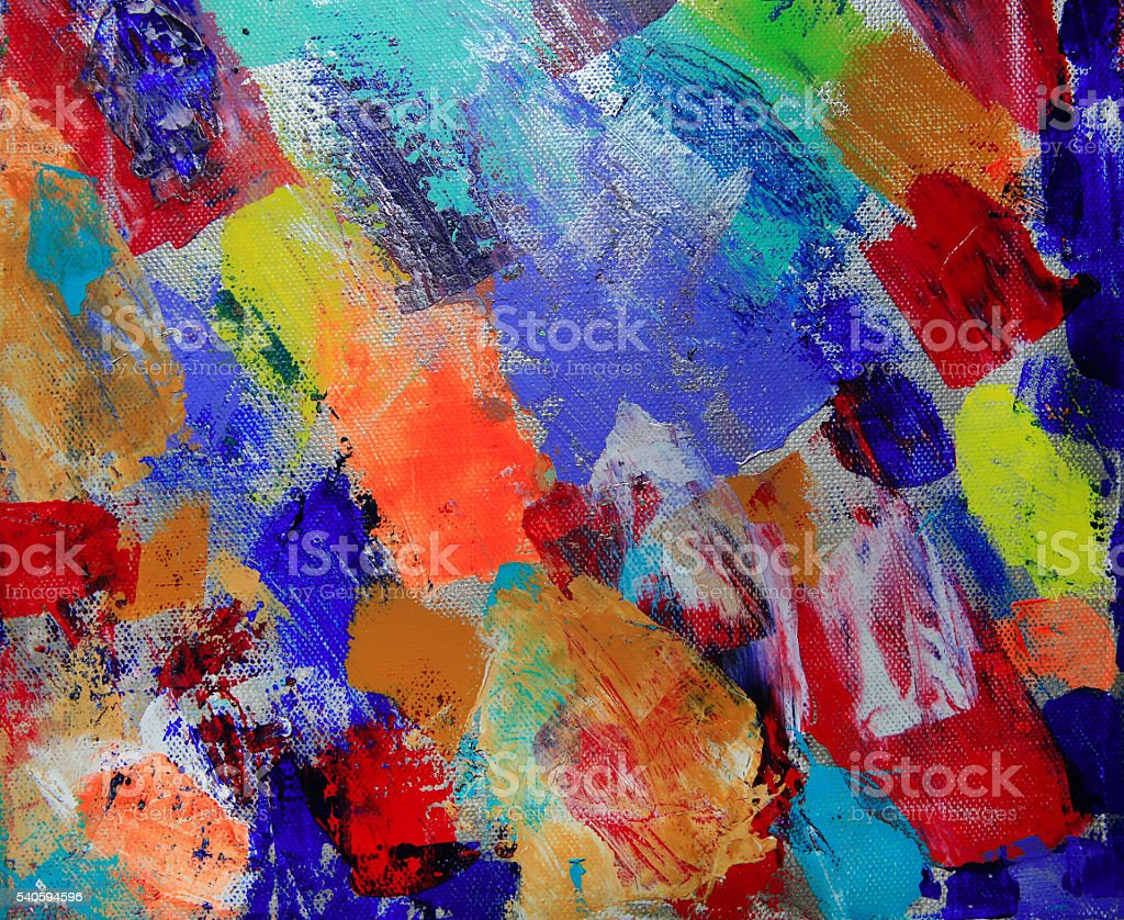 Art abstract paint with acrylic colors vector art illustration