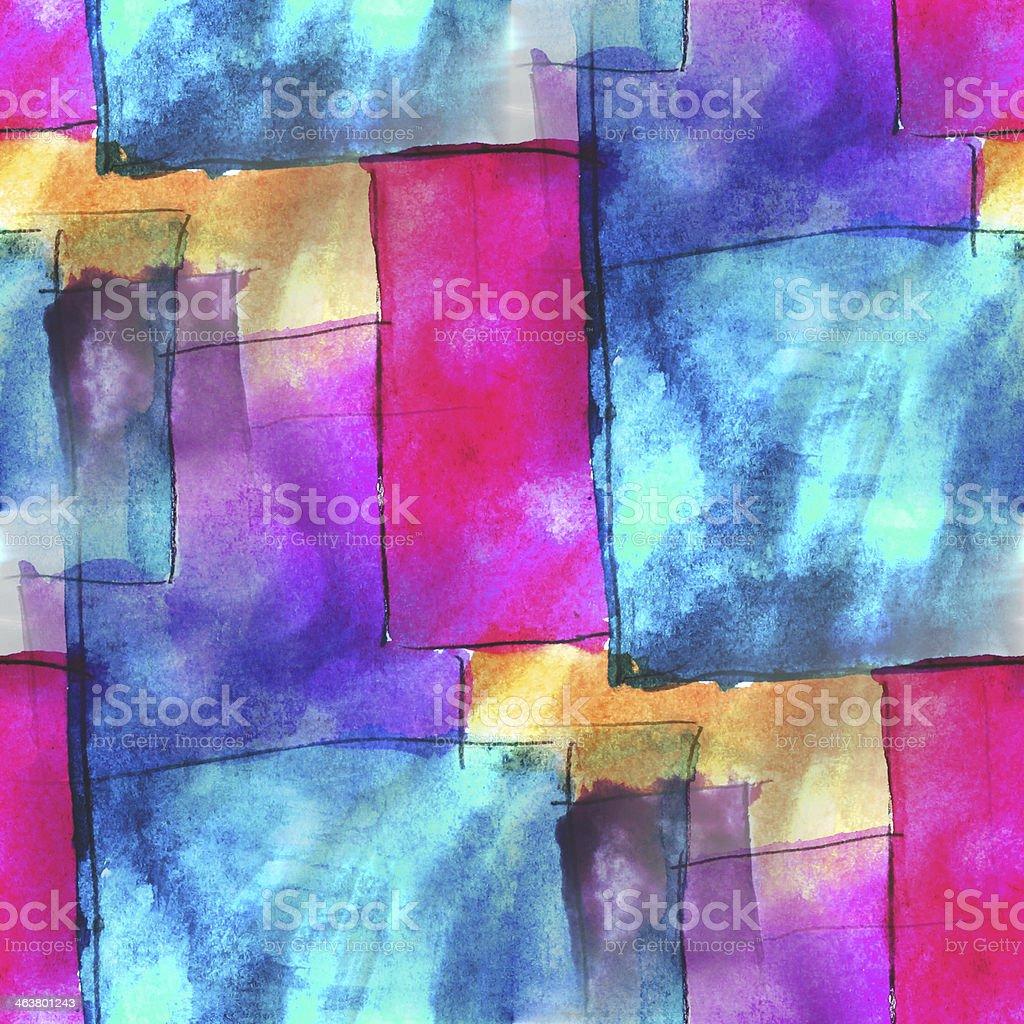 art blue, pink avant-garde hand paint background seamless wallpa royalty-free stock vector art