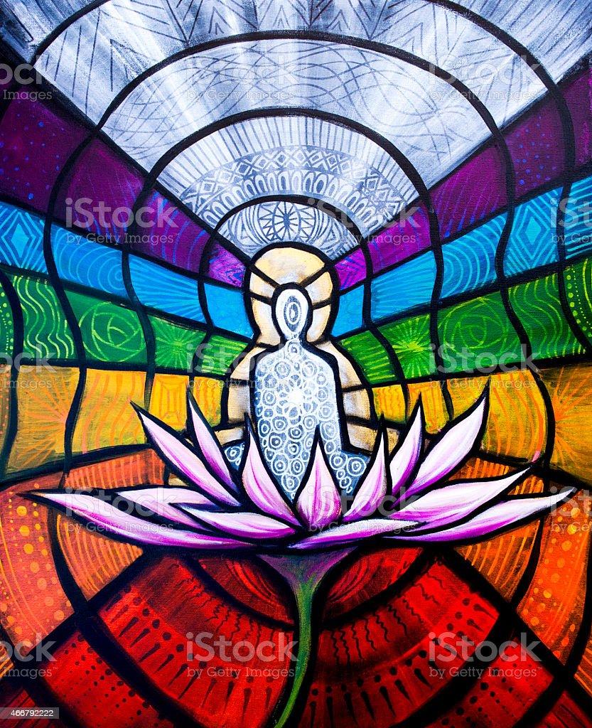 Art: Chakra Oil Painting vector art illustration