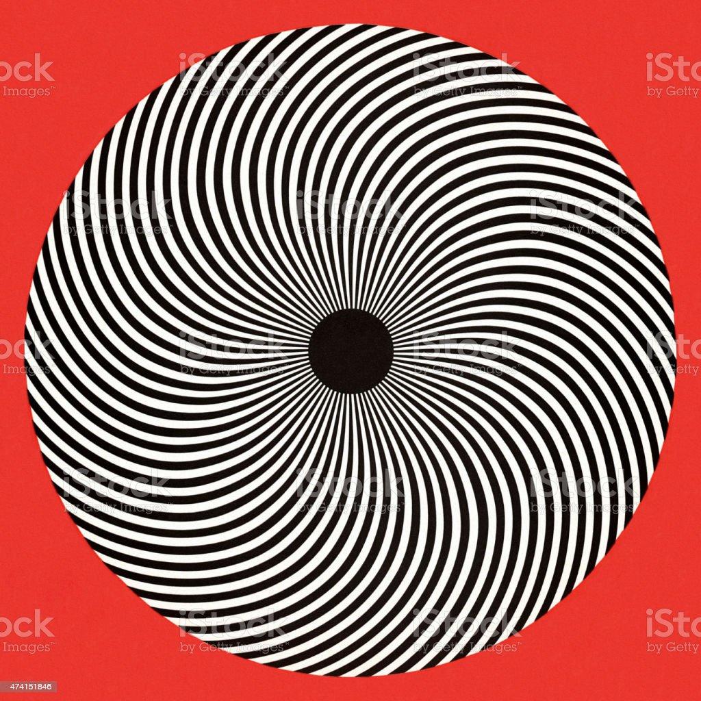 OP Art Circle vector art illustration