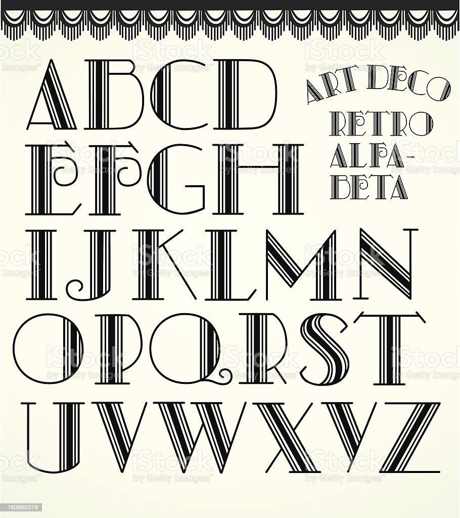 Art deco alphabet royalty-free stock vector art
