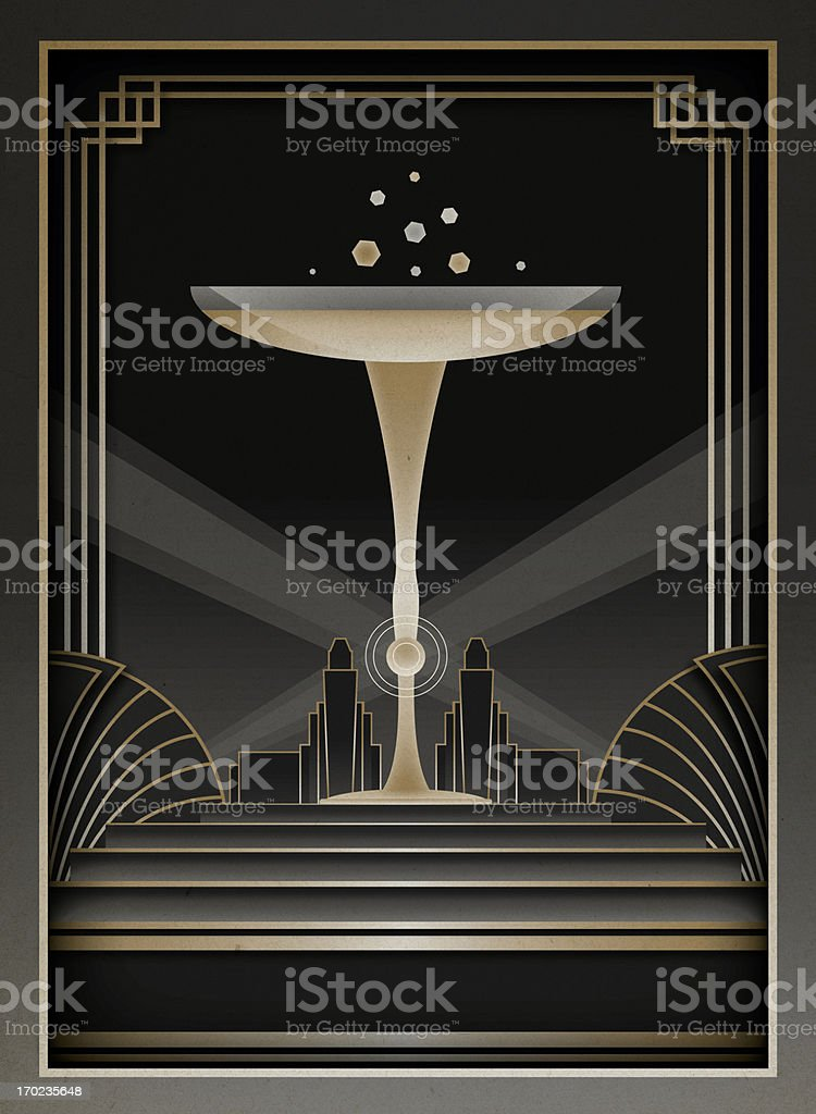 Art Deco Background and Frame vector art illustration