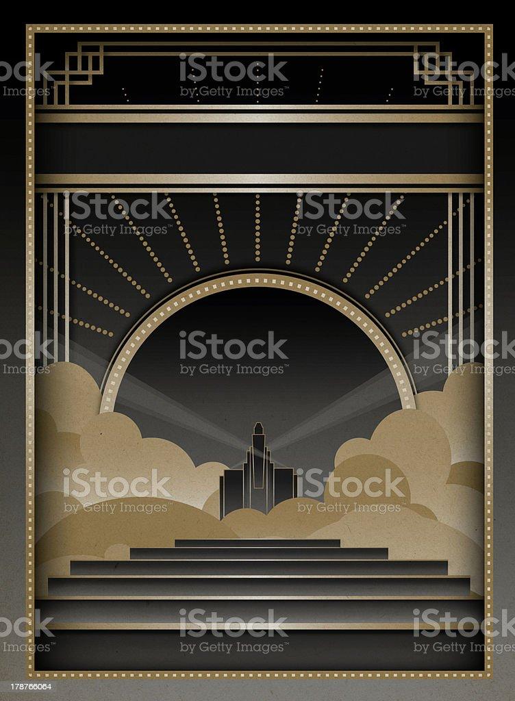 Art Deco Background and Frame vector art illustration