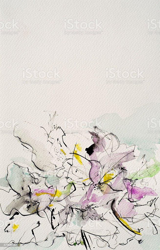 Art - flower vector art illustration