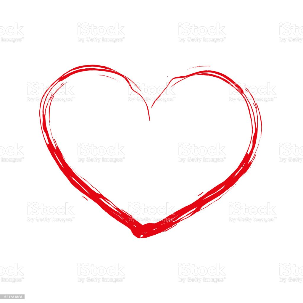 Art heart on a white background stock photo