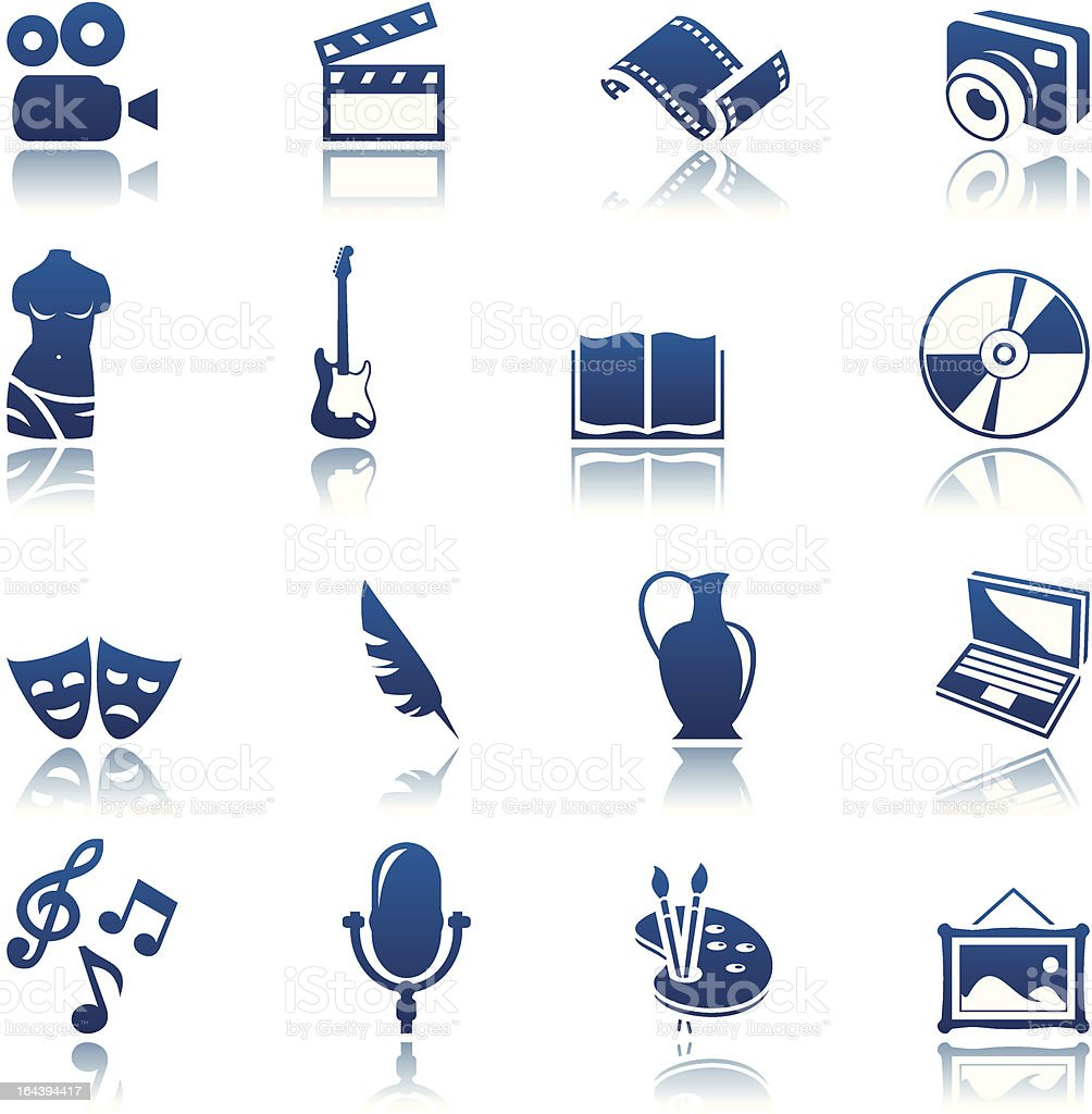 Ensemble d'icônes de l'Art & hobby stock vecteur libres de droits libre de droits