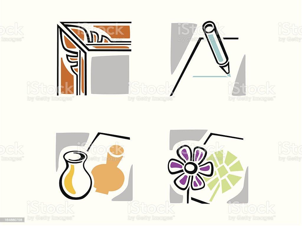 Art Icons royalty-free stock vector art