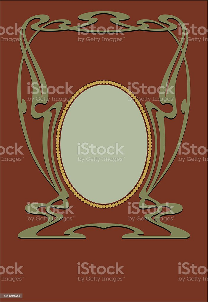 art nouveau panel 71404 royalty-free stock vector art