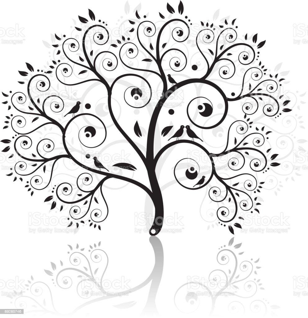 Art tree beautiful royalty-free stock vector art