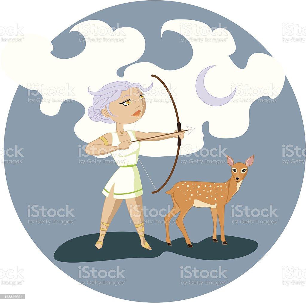 Artemis royalty-free stock vector art