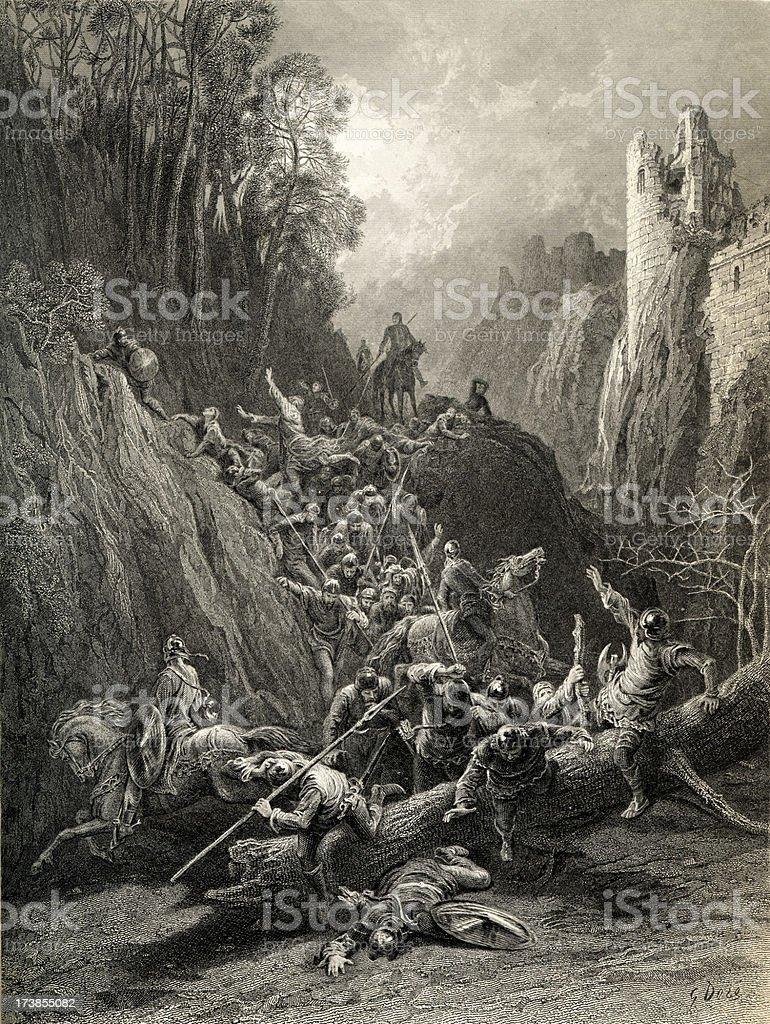 Arthurian legend royalty-free stock vector art