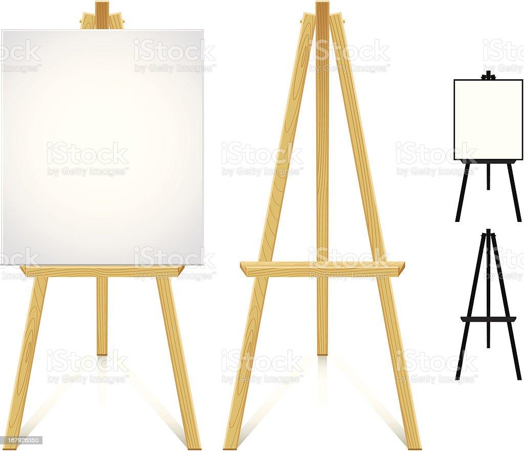 Artist easel vector art illustration