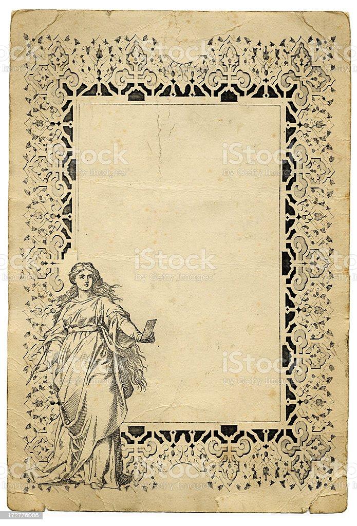 Artist frame vector art illustration