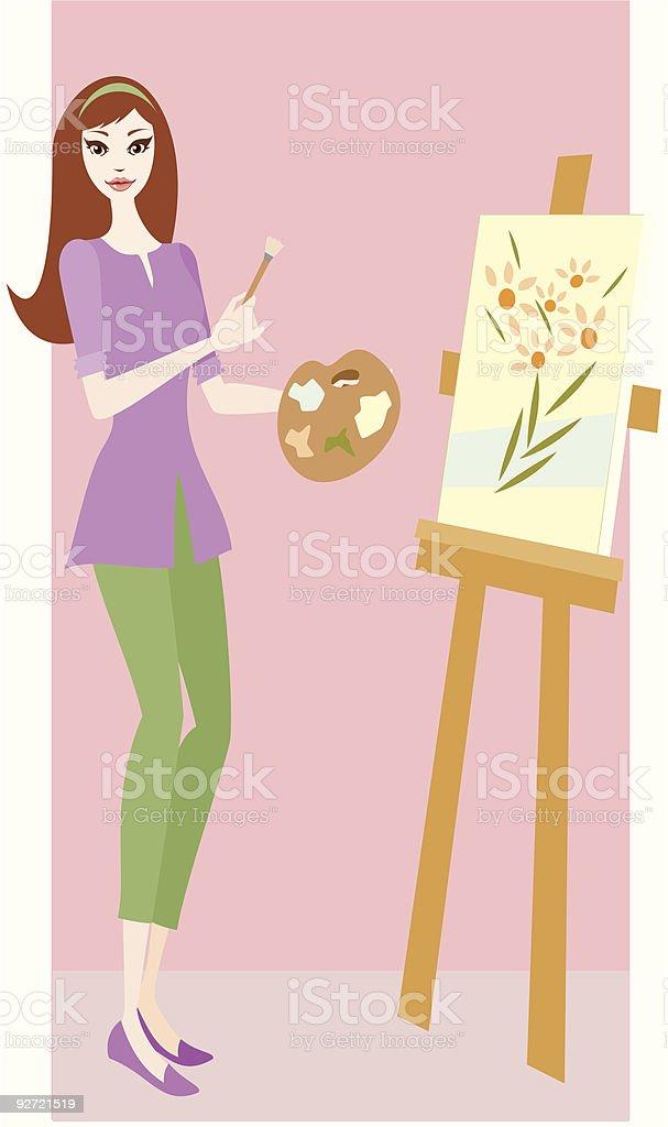 Artist vector art illustration