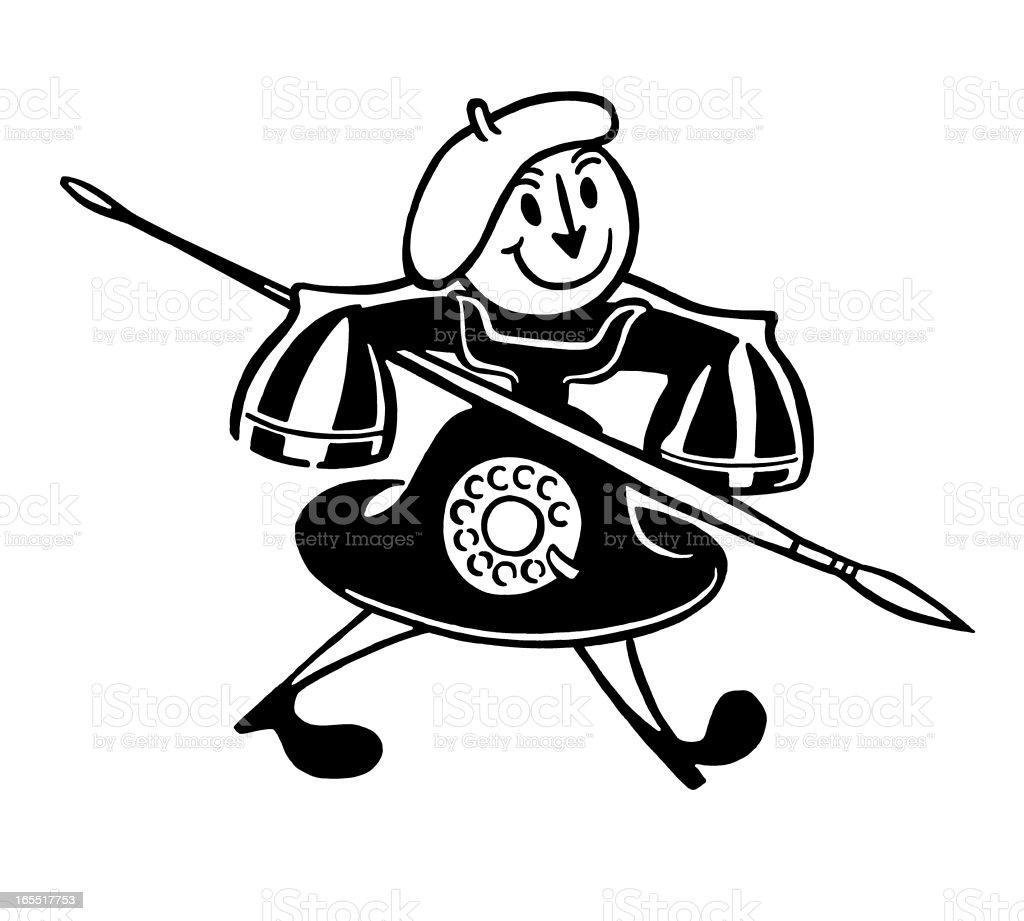 Artist Telephone Character royalty-free stock vector art