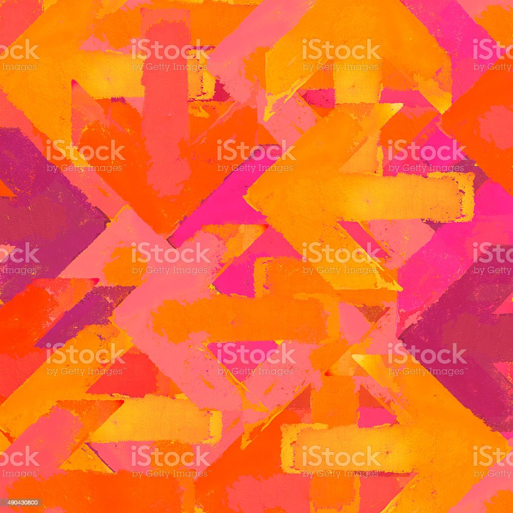 Artistic grunge arrows background in a warm colors stock photo