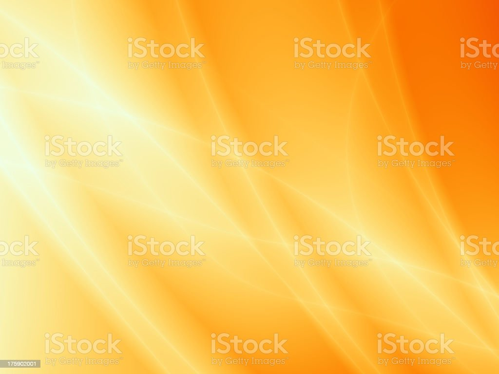 Artistic yellow and orange sunlight background vector art illustration