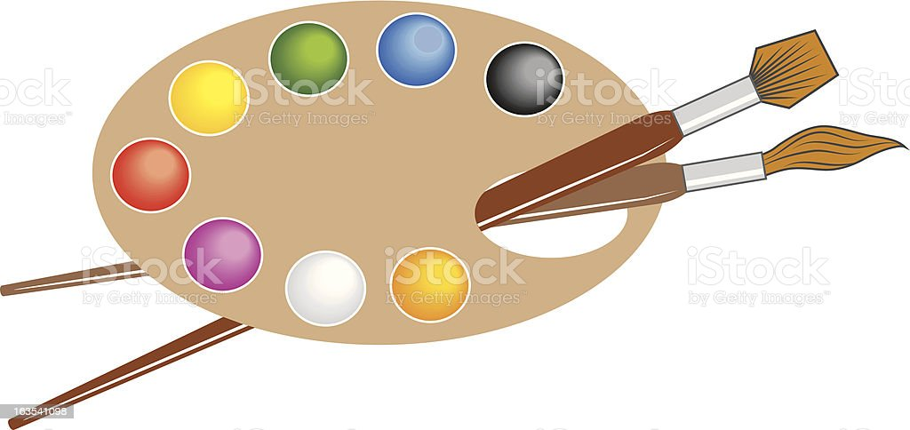 Artists Palette royalty-free stock vector art