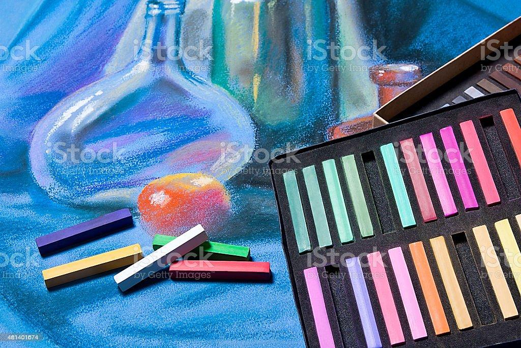 Tonos pastel y originales de artistas pastel de vida. illustracion libre de derechos libre de derechos