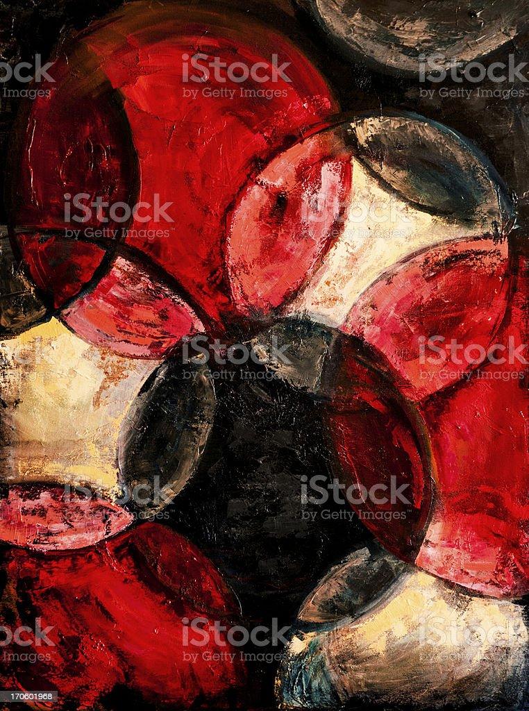 Artwork: Textured Circle Painting royalty-free stock vector art