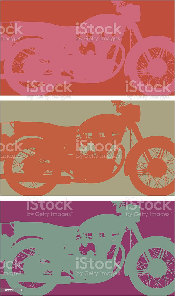 Arty bike royalty-free stock vector art