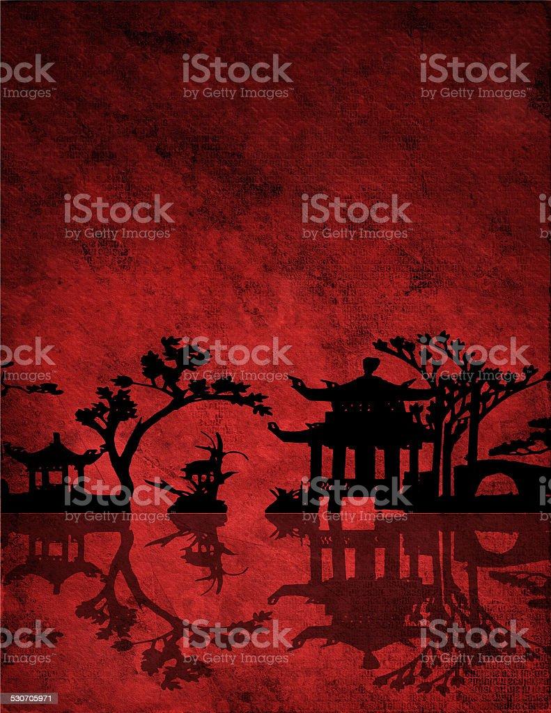 Asia Landscape vector art illustration
