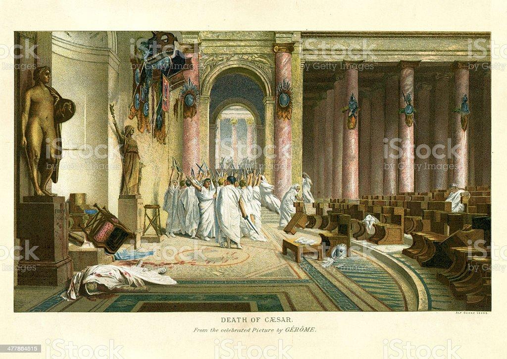 Assassination of Julius Caesar royalty-free stock vector art