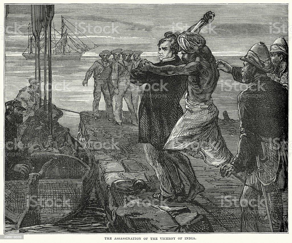 Assassination of Richard Bourke royalty-free stock vector art