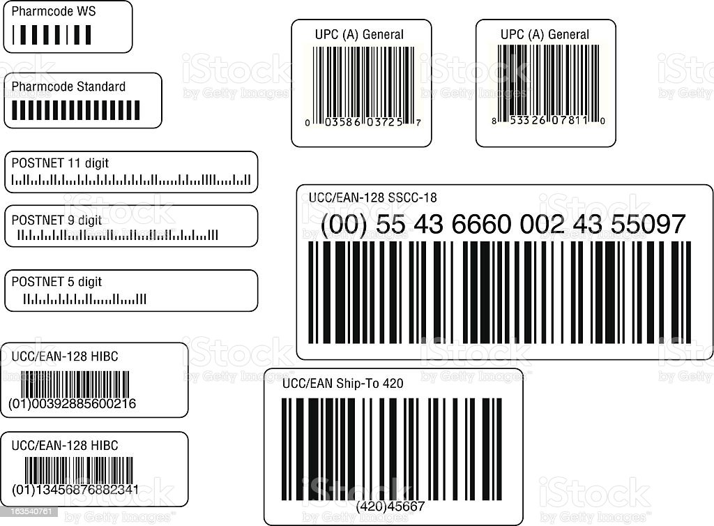 assorted barcodes 02 vector art illustration