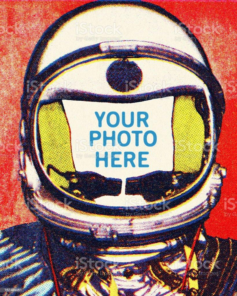 Astronaut Head royalty-free stock vector art