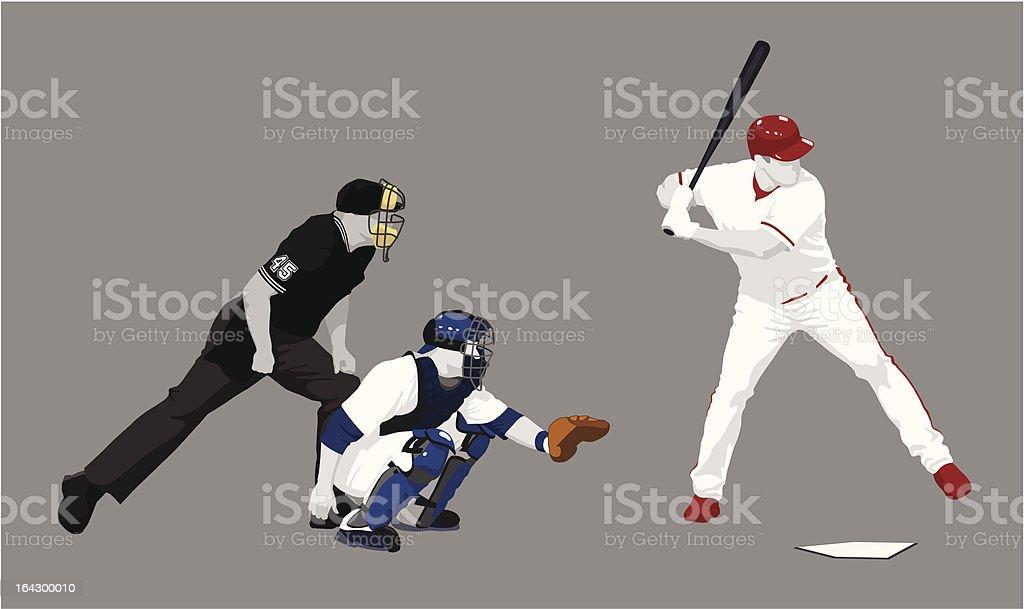 at bat vector art illustration
