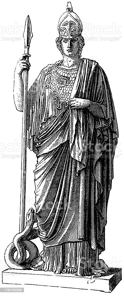 Athena royalty-free stock vector art