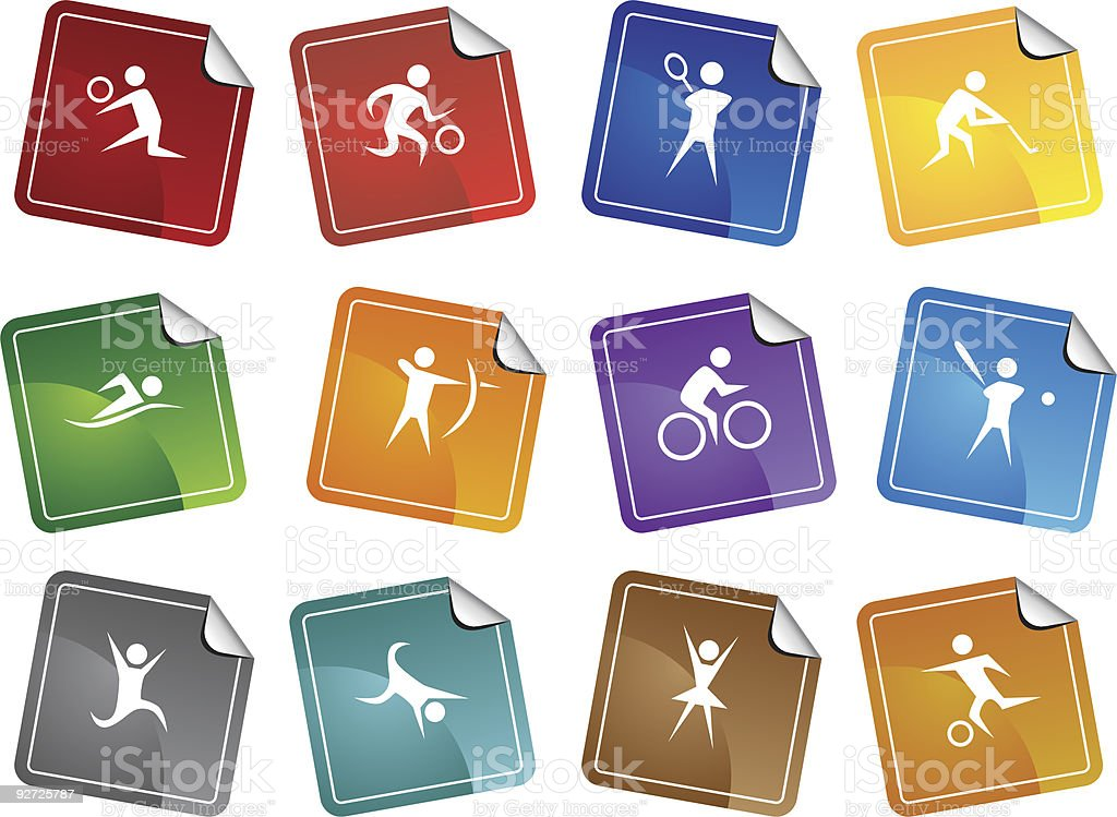 Athlete Icons royalty-free stock vector art