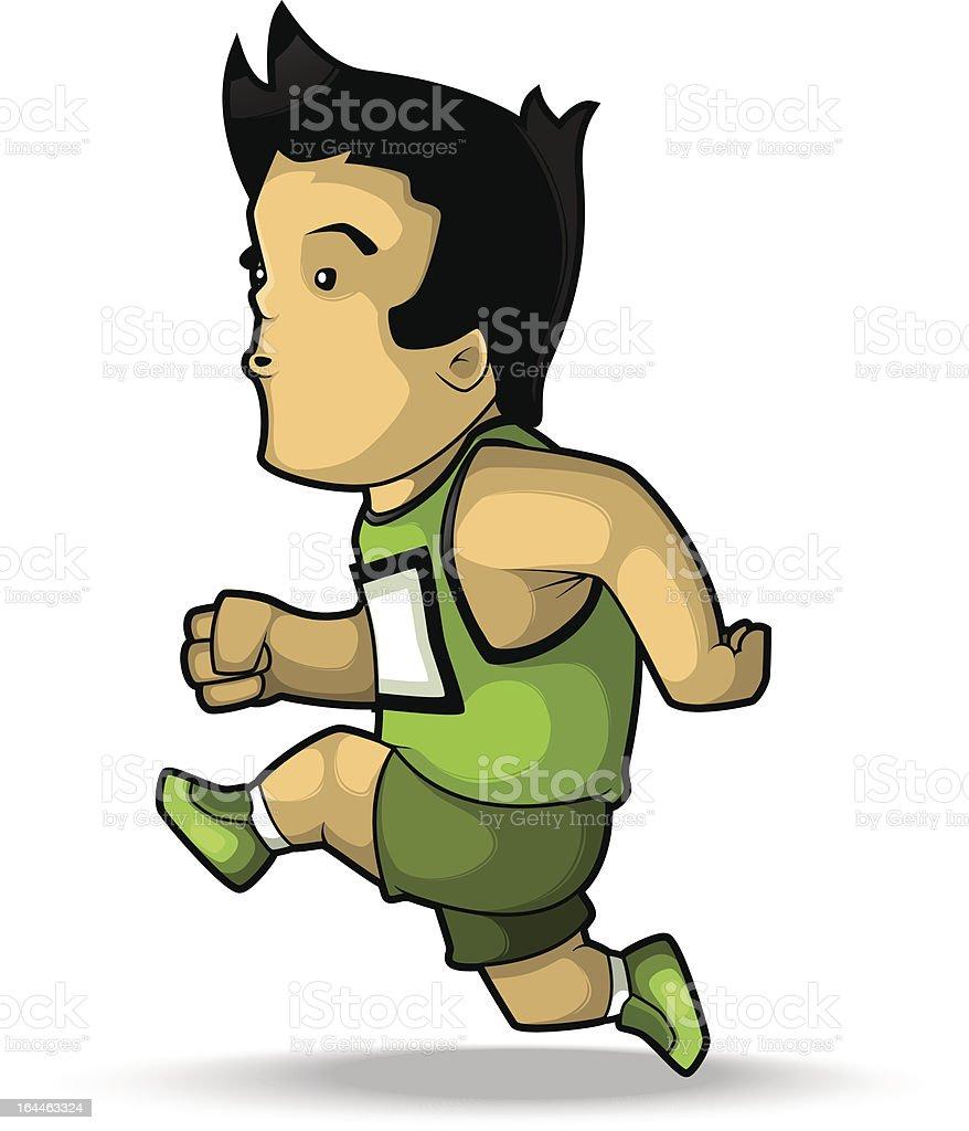 Athlete Runner royalty-free stock vector art