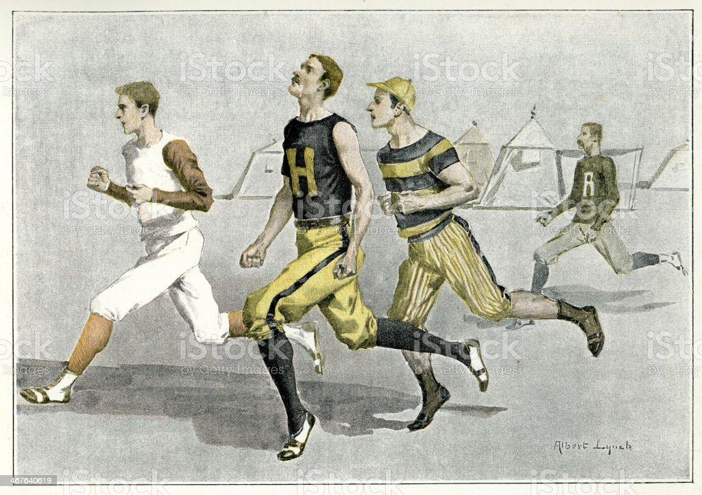 Athletics race royalty-free stock vector art