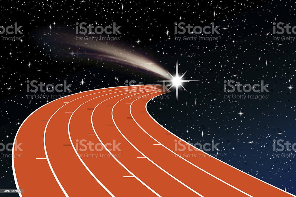 athletics track vector art illustration