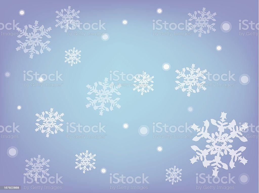 atmostpheric winter with snowflakes royalty-free stock vector art