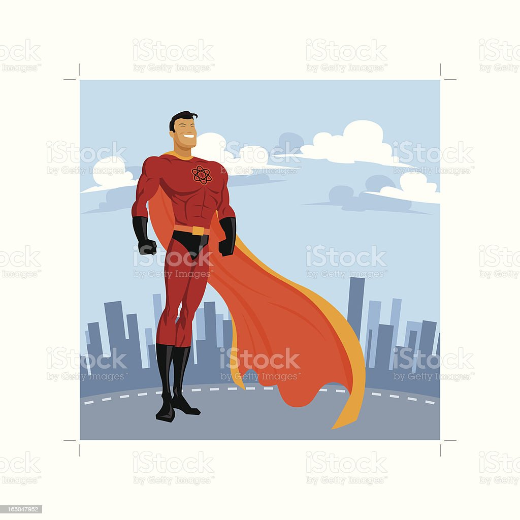 Atom Superhero royalty-free stock vector art