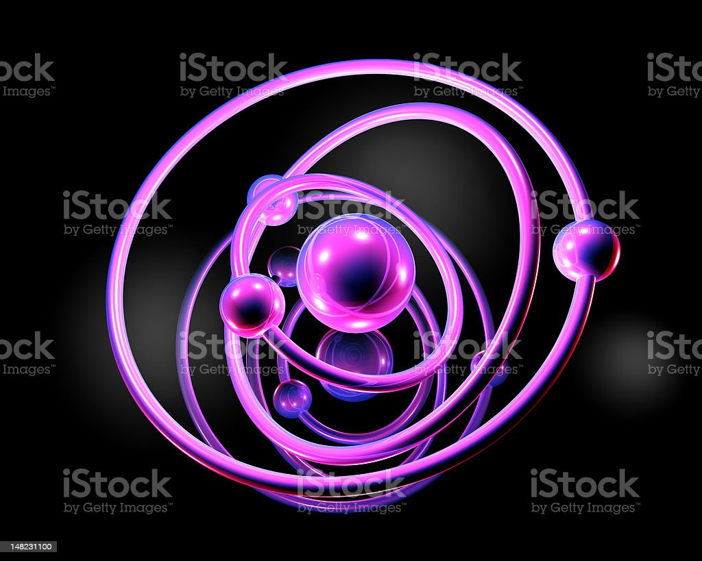 Atomic Model royalty-free stock vector art