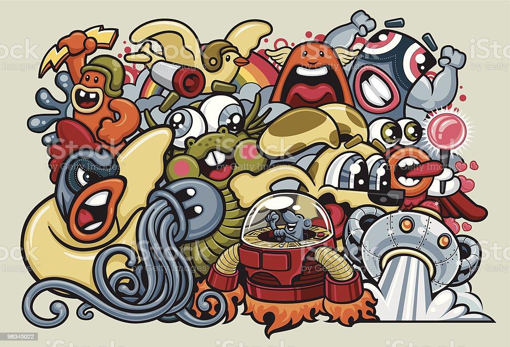 Attack of the Killer Cuteness! vector art illustration