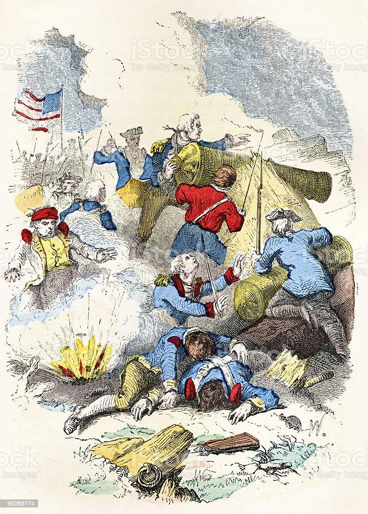 Attack on Fort Mifflin vector art illustration