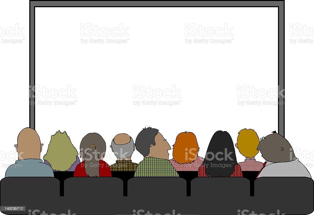 Audience vector art illustration